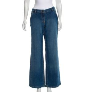 MICHAEL MICHAEL KORS Mid-Rise Wide-Leg Jeans Sz 10